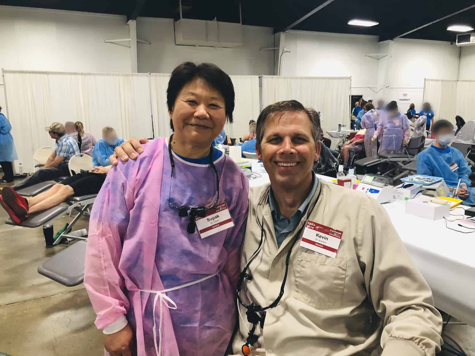 Dr. Kremer and Dr. Choti at California CareForce