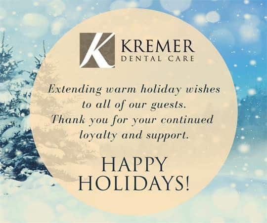 Happy Holidays from Kremer Dental Care