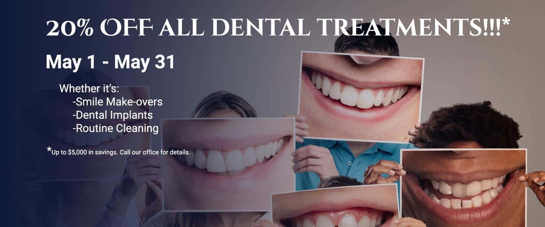 20% off dental treatments